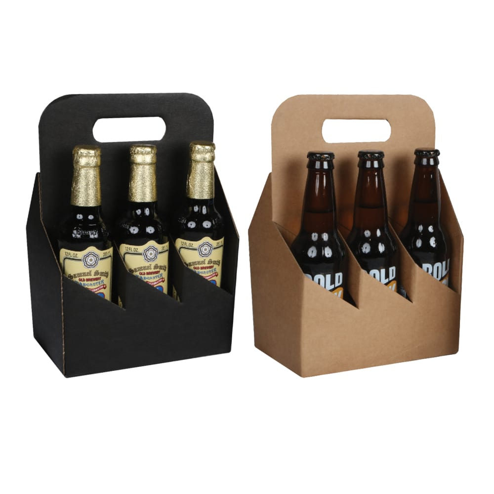 8a7fff9c2139 6 Pack 12 oz. Bottle Heavy Cardboard Totes