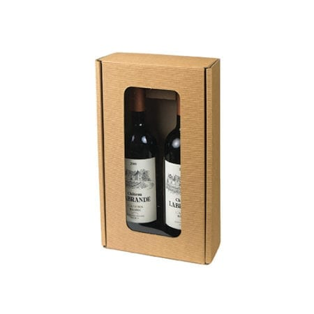 2 bottle windowed wine gift box