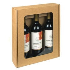 3 bottle windowed wine gift box