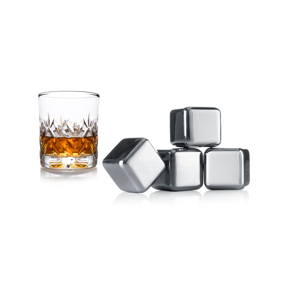 Product: Vacu Vin stainless steel whiskey stones, item# VACSTONE