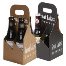 Product: custom printed 4 pack 12 oz. bottle totes, item # G4B-CUSTOM