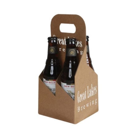 Product: custom printed 4 pack 12 oz. bottle totes, item # G4B-KFT-CUSTOM