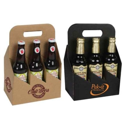 Product: custom printed 6 pack 12 oz. bottle totes, item # G6B-CUSTOM