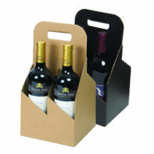 Product: 4 Bottle 750 ml Wine Carrier Totes, Item # G4WB