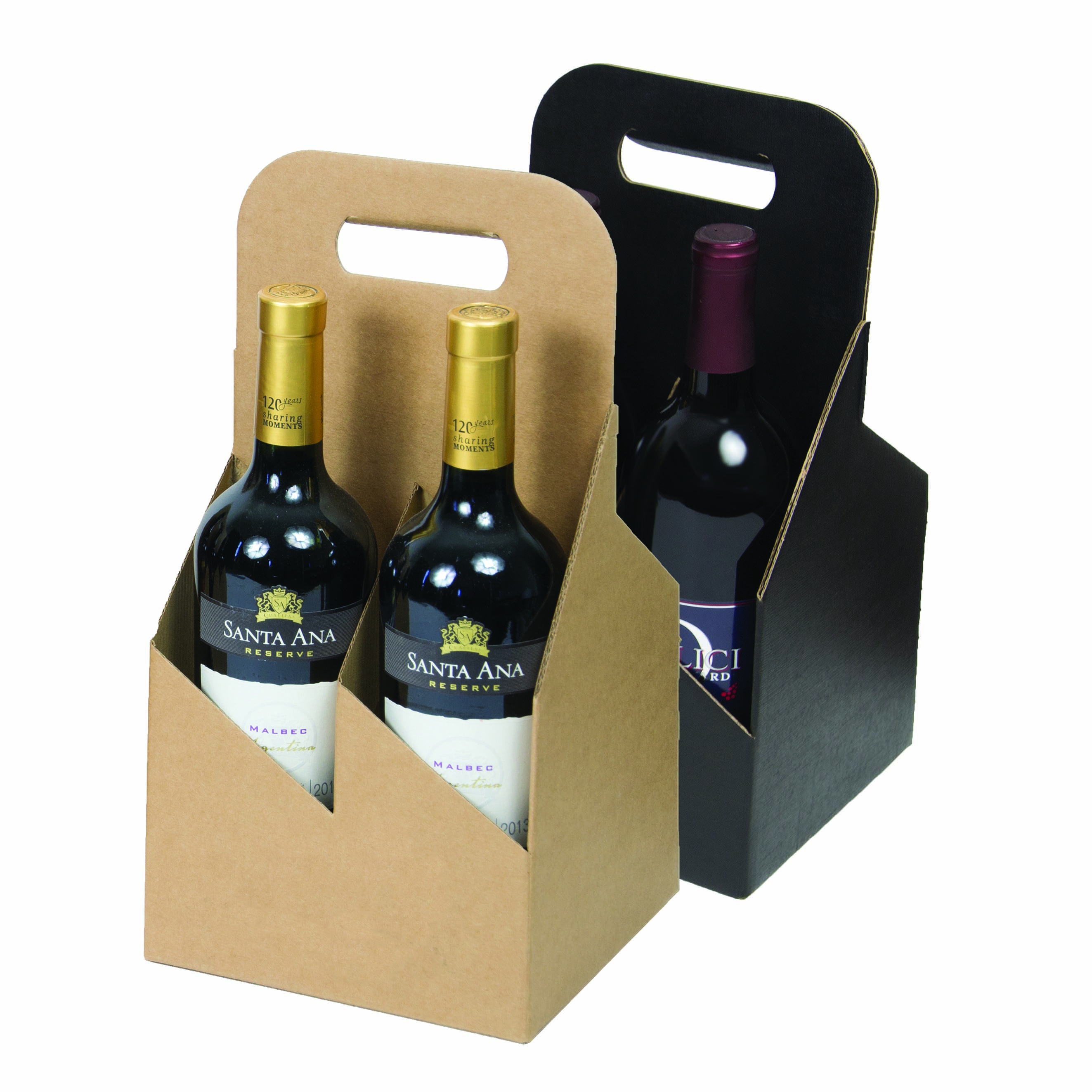 053afdb5c72b 4 Bottle 750 ml Wine Carrier Totes