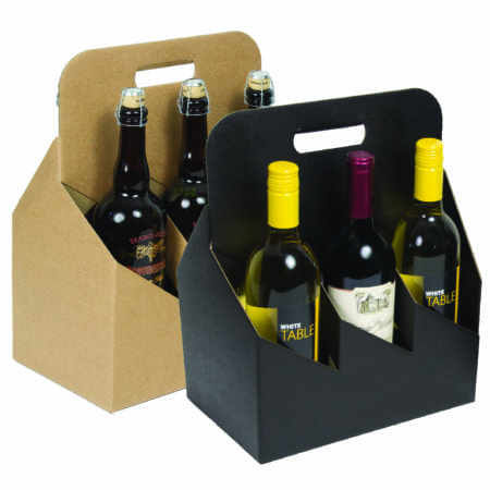 Product: 6 Bottle 750 ml Wine Carrier Totes, Item # G6WB