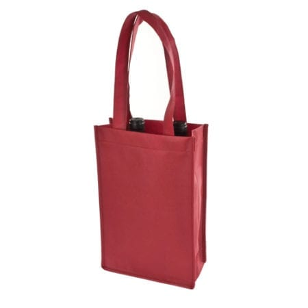 Burgundy 2 Bottle Tote