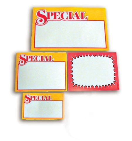 Special Price Signs