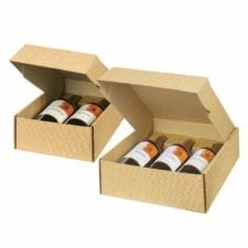 Kraft Textured Finish Wine Gift Box