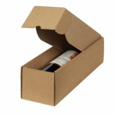 1 Bottle Horizontal Side-Opening Textured Wine Box