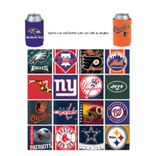 Product: Sports themed neoprene can holder, item # KHB-SP