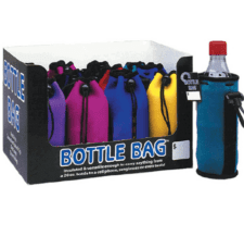 Product: Neoprene drawstring bottle bag insulators, item # BOTB