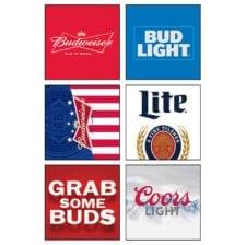 Beer branded neoprene can and bottle holder options