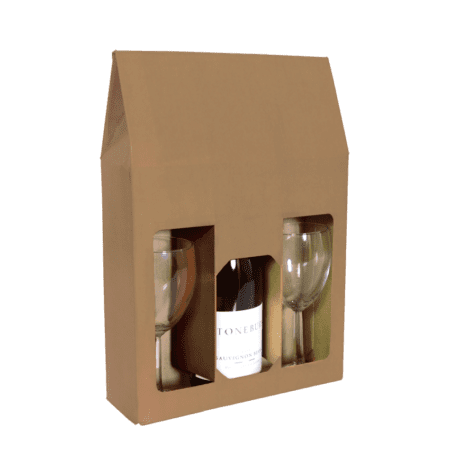 Product: Cardboard 3 bottle wine carrier #WB3B-CWW