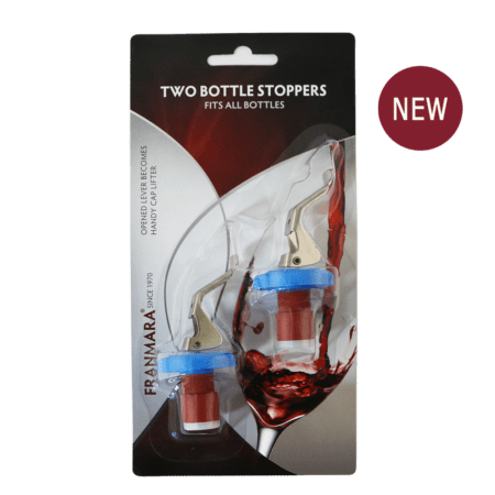 Product: 2 Pack carded Bottle Stoppers, item # FCBS2