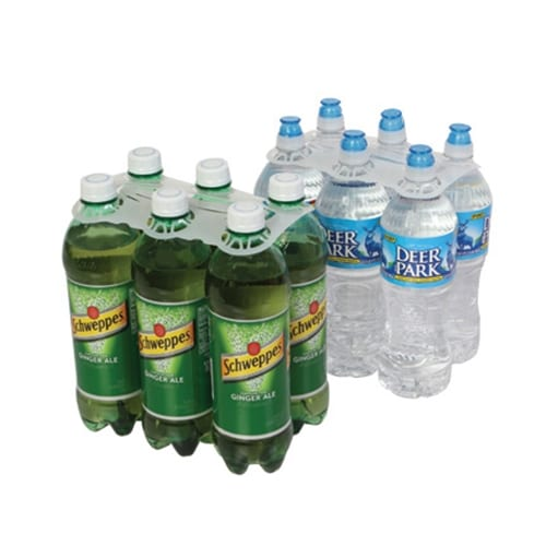 Product: 20 oz - 24 oz 6 Pack plastic bottle carrier, item # BSC-629.28