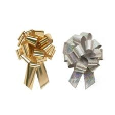 Product: metallic and hologram pull bows, item # PB5
