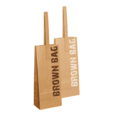 Product: paper bottle bags with handles sold wholesale, item # BB1B