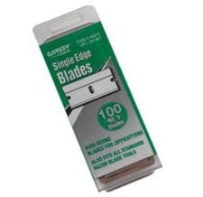 Product: Replacement single edge blades; ITEM # BLADE