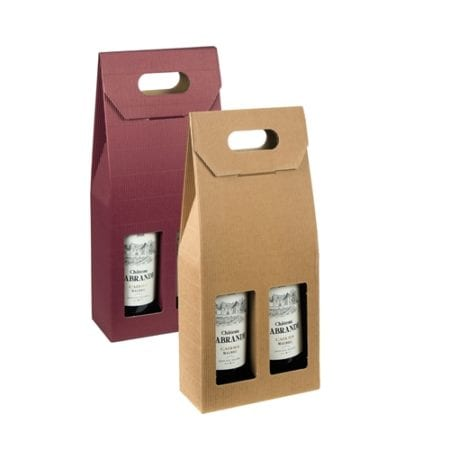 Textured Rib 2 Bottle Wine Gift Carrier