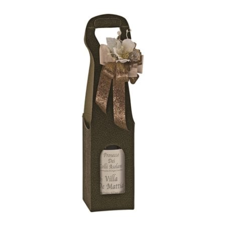 Chocolate Pebbled Textured 1 bottle carrier