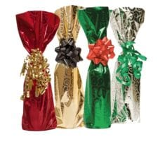 Product: Assorted color Mylar bottle Gift bag, item # MB7COLORS
