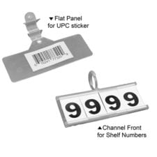 Product: clear plastic hinge clips; ITEM # SHCLIP