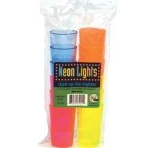 Product: Heavyweight Plastic Neon Shot Glasses; ITEM # SHOT-12N