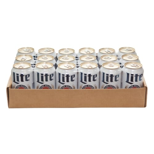 24 Pack can carrier trays in an easy-to-assemble cardboard carrier!