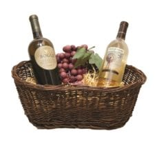 Product: Rustic peanut shaped basket, Item #BASK-REC