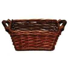 Product: rectangular basket with wooden handles, Item # BASK-REC