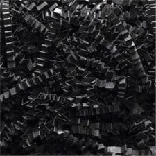 Black Crinkle Cut shredded basket filler