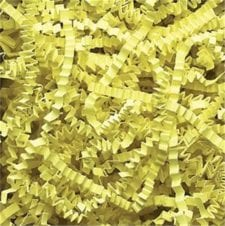 Citron Crinkle Cut shredded basket filler