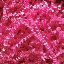 Fuchsia Crinkle Cut shredded basket filler