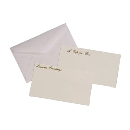 Product: White Gift Basket Cards, Item # GCARD