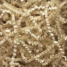 Ivory Crinkle Cut shredded basket filler