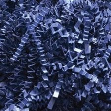 Navy Blue Crinkle Cut shredded basket filler