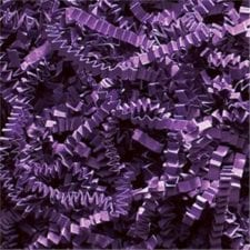 Purple Crinkle Cut shredded basket filler