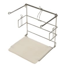Product: shopping bag rack; ITEM # racktbag